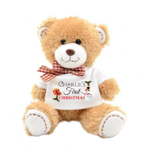 Personalised First Christmas Cute Teddy Bear N11